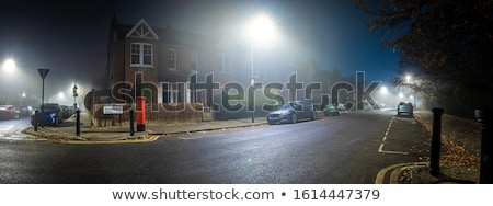 Winter suburb at night Stock photo © tracer