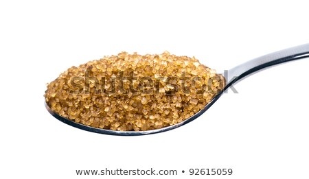 coffee with spoon and brown sugar stock photo © hansgeel