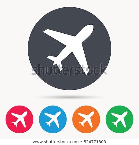 Düğmeler uçaklar beyaz arka plan uçak kırmızı Stok fotoğraf © bluering