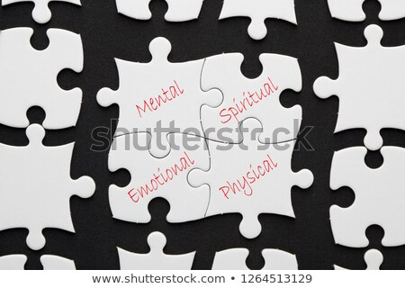 Foto d'archivio: Text On Puzzle Pieces - Healthy Living