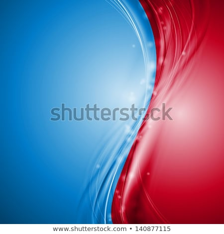Abstract red and blue smooth contrast background Stock photo © saicle