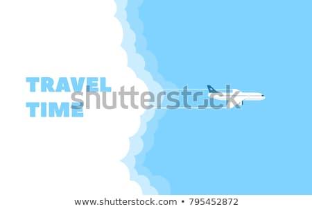 Nyár sablon repülőgép illusztráció fehér kék Stock fotó © bluering