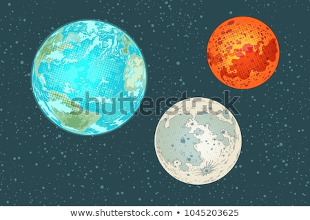 A comical image of Earth Stock photo © bluering