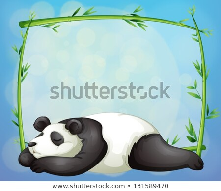 cute · panda · beer · cartoon · mascotte · karakter - stockfoto © bluering