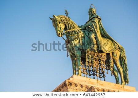 святой статуя Будапешт Венгрия Восход Сток-фото © Kayco