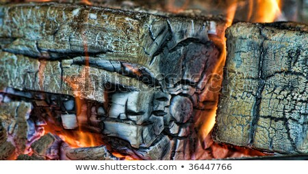Diabeł ognia murem ilustracja tle sztuki Zdjęcia stock © bluering