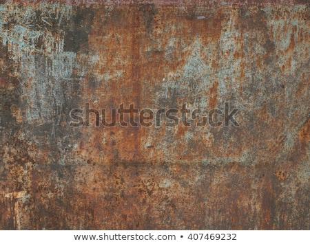 ржавые · металлической · поверхности · краской · текстуры · оранжевый - Сток-фото © myfh88