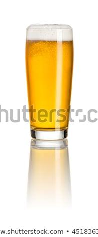 bögre · sör · izolált · fehér · fény · üveg - stock fotó © zerbor