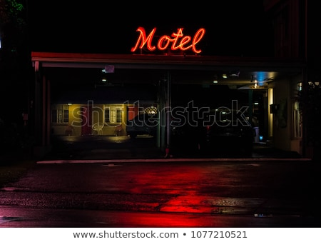 Motel gestileerde verschillend stad bouw ontwerp Stockfoto © tracer