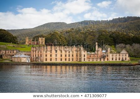 Portu budynku tasmania Australia starych Zdjęcia stock © artistrobd