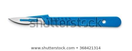 bisturi · ilustração · branco · fundo · faca · aço - foto stock © bluering