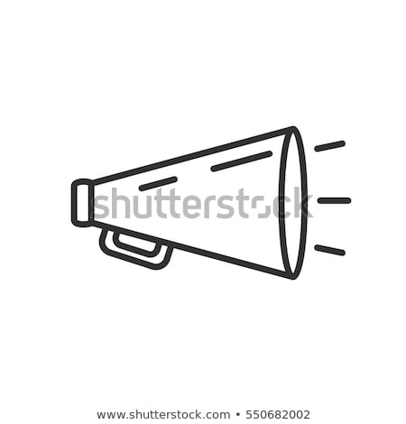 Black outline megaphone or bullhorn Stock photo © adrian_n