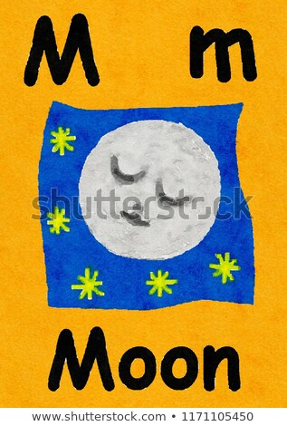 Flashcard letter A is for asleep Stock photo © bluering