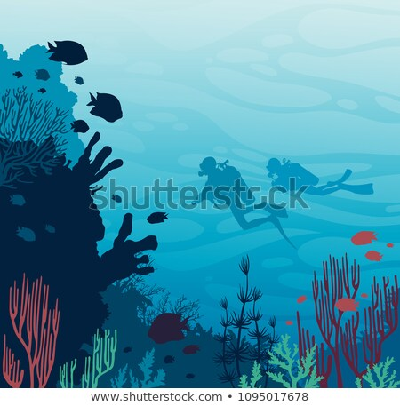 two people scuba diving under the ocean stock photo © bluering