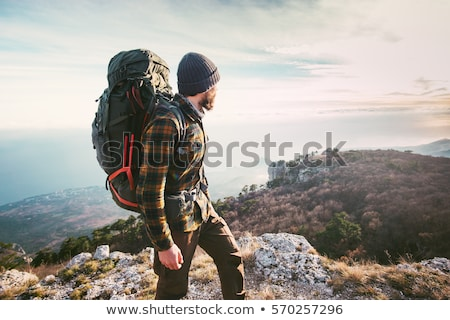 Stock photo: man hiking