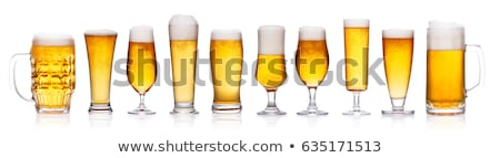 Lager beer in glass Stock photo © orensila