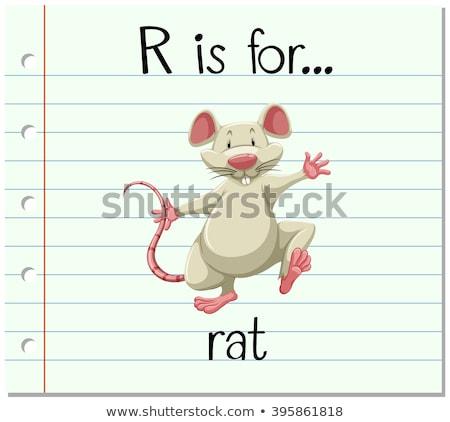 Letter r rat illustratie kinderen natuur kind Stockfoto © bluering
