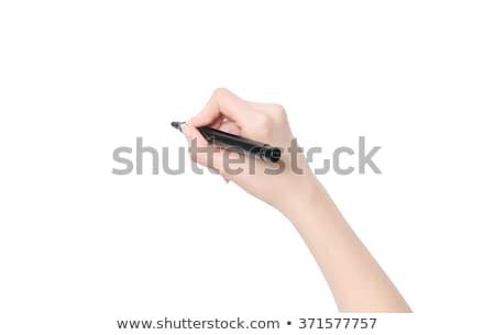 advertising hand black marker stock photo © ivelin