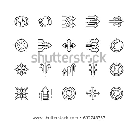 Abstract Rotating Arrow Icon Stock photo © cidepix