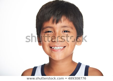 Kinderen portret jongen glimlachend gelukkig grappig Stockfoto © diego_cervo