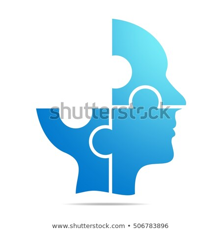 Illustration of a head with missing puzzle piece Stock photo © adrian_n