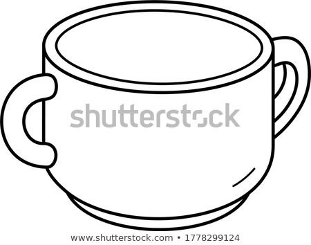 Porcelán dupla leves tál fehér kettő Stock fotó © Digifoodstock