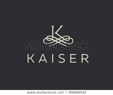 classic floral monogram design for letter K logo Stock photo © SArts