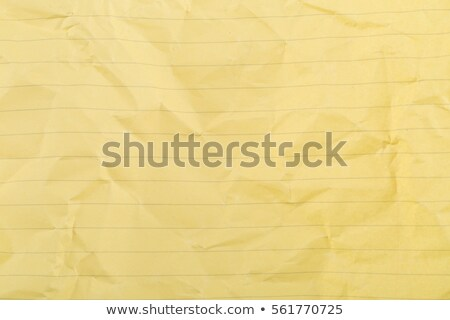 Crumbled yellow lined, clean paper texture Stock photo © ShawnHempel