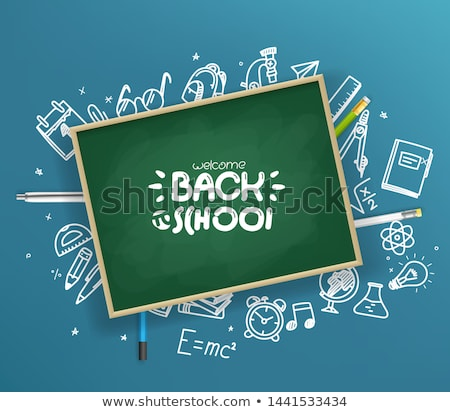 Back to school - pen sketch card Stock photo © JackyBrown