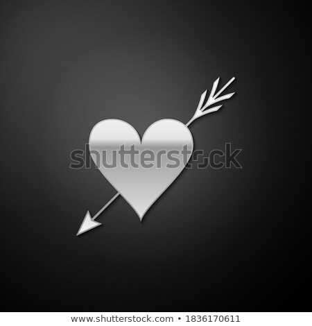 Cupid Silhouette with Long Shadow Stock photo © Genestro
