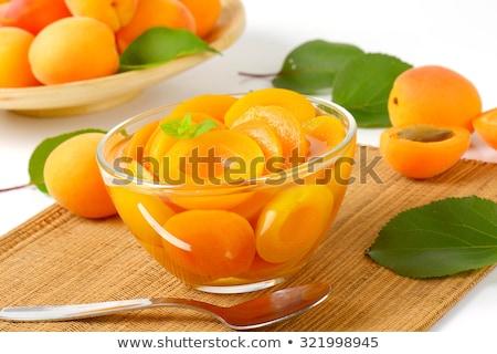 чаши абрикос свет сироп фрукты десерта Сток-фото © Digifoodstock