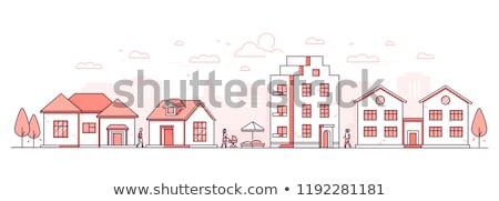 moderne · stad · kleurrijk · ontwerp · stijl · witte - stockfoto © filata