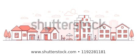 city color apartment house stock photo © filata
