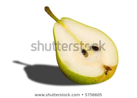 Uno metà maturo pere bianco verde Foto d'archivio © Digifoodstock