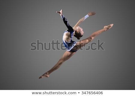 kicsi · tornász · lány · tánc · ritmikus · torna - stock fotó © svetography