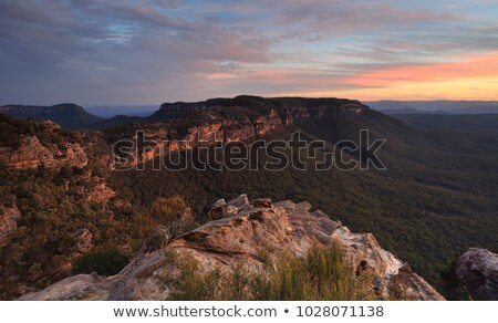 Views over the Megalong Valley Blue Mountains Australia Stock photo © lovleah
