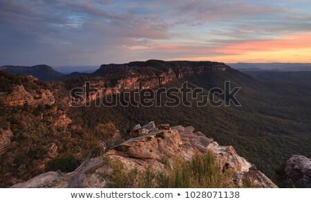 mavi · dağlar · Avustralya · vadiler · bulutlar - stok fotoğraf © lovleah