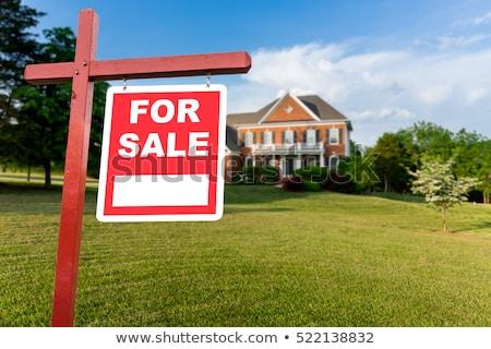 Vásár felirat nagy USA otthon szerződés Stock fotó © backyardproductions