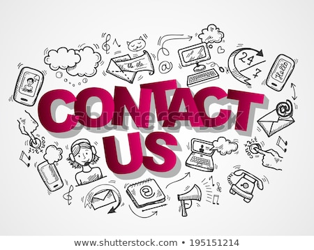 about us concept with doodle design icons stock photo © tashatuvango