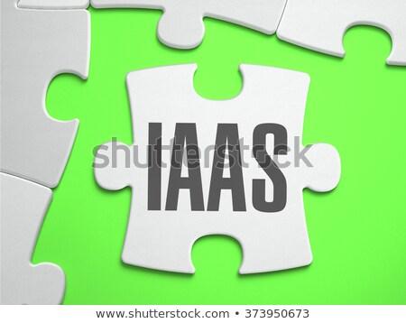 IaaS - Jigsaw Puzzle with Missing Pieces. Stock photo © tashatuvango