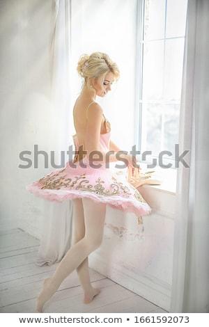 美しい · ブロンド · 体操選手 · 肖像 · 小さな - ストックフォト © julenochek