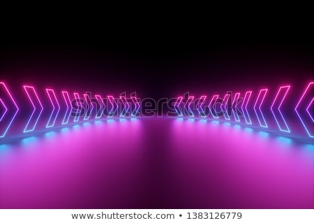 neon · pijl · elektronische · lampen · bar - stockfoto © barsrsind