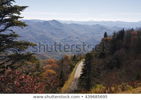 Waterrock Knob on Blue Ridge Parkway in Autumn Stock photo © GreenStock