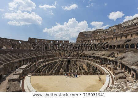 Interior of the Colosseum, Rome Stock photo © ankarb