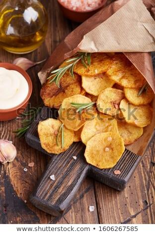 homemade potato chips stock photo © masha