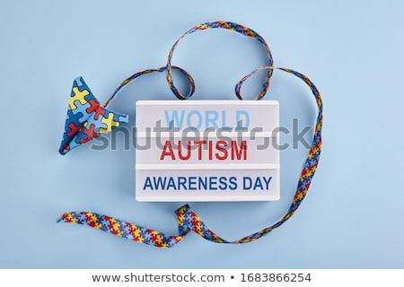 ícone fita autismo consciência dia computador Foto stock © Olena
