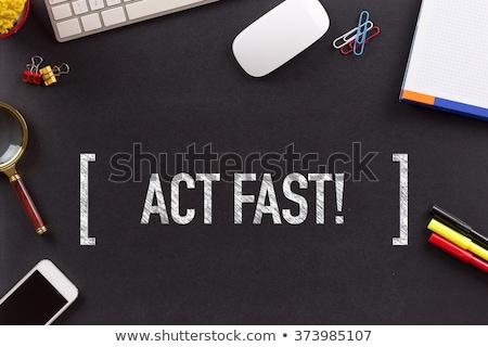 Take Action on Chalkboard in the Office. Stock photo © tashatuvango