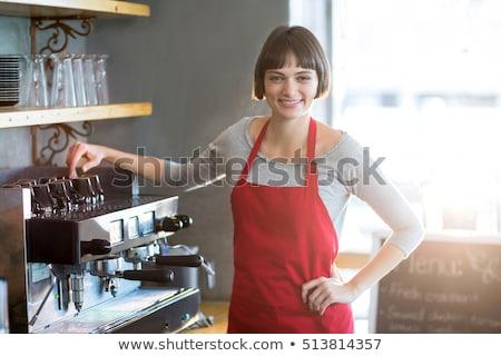 Waitress standing with hands on hip in restaurant Stock photo © wavebreak_media
