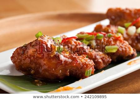 Gekruid thai kip vleugels twee gegrild Stockfoto © Digifoodstock