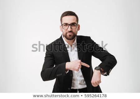 ビジネスマン · 見える · 時間 · 男 · 会議 · スーツ - ストックフォト © wavebreak_media
